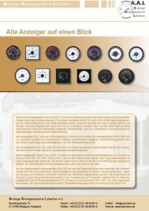Analoge Anzeigesysteme Latschan e.K. Datenblatt Platzhalter
